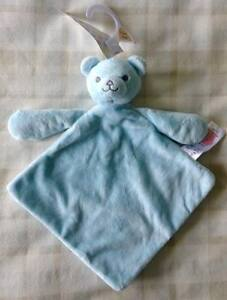 Tesco F&F Baby Blue Teddy Bear Comforter Blanket/Dou Dou/Soft Toy ~ Discontinued
