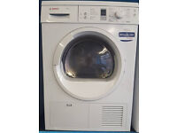 j253 white bosch 7kg condenser sensor dryer comes with warranty can be delivered or collected