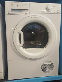 L27 white hotpoint 7.5kg condenser dryer comes with warranty can be delivered or collected