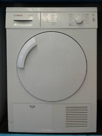 R113 white bosch 7kg condenser dryer comes with warranty can be delivered or collected