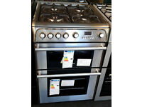 a273 stainless steel cannon 60cm double oven gas cooker new with manufacturers warranty