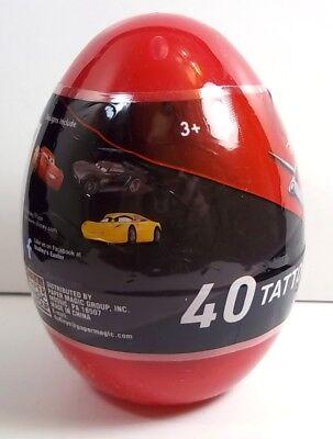 Plastic Egg with 40 Pixar Cars temporary tattoos NEW sealed](Pixar Tattoo)