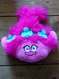 Trolls Poppy Head Fleece Cushion