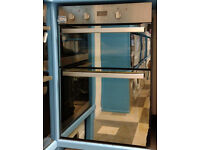 a516 stainless steel & morror finish hotpoint double integrated electric oven new graded
