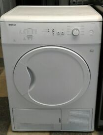 E199 white beko 7kg condenser dryer with warranty can be delivered or collected