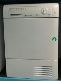 a656 white hotpoint 7kg condenser dryer comes with warranty can be delivered or collected
