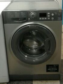 A269 graphite hotpoint 7kg 1400 spin washing machine comes with warranty can be delivered or collect