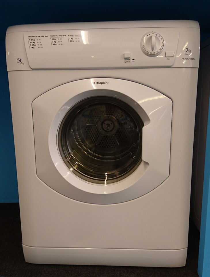 q348 white hotpoint 7kg B rated vented dryer comes with warranty can be delivered or collected