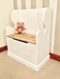 ***Pine Shabby Chic Monks Bench / Church Pew / Settle, Ottoman***ONLY £129***
