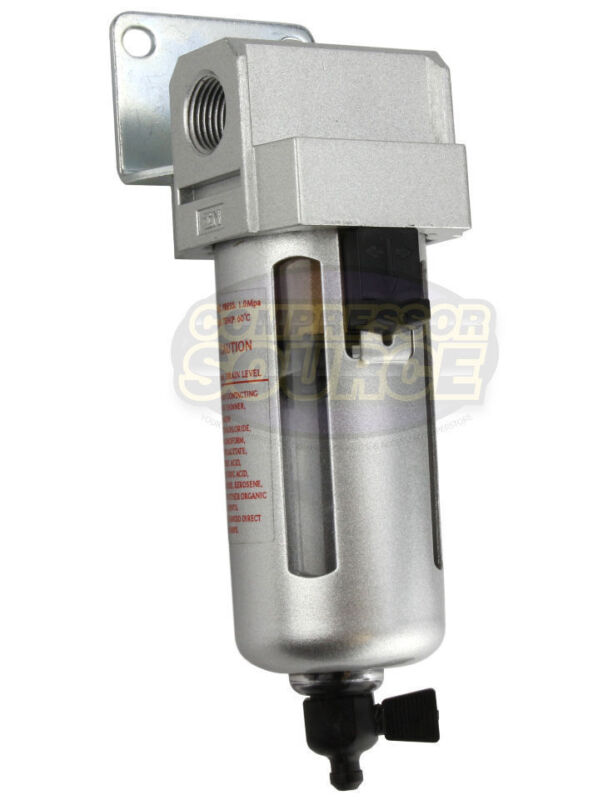 """3/8"""" Compressed Air In Line Moisture & Water Filter Trap F503 Compressor New"""