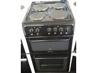 a042 black hotpoint 50cm solid ring electric cooker comes with warranty can be delivered