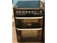 b593 black cannon 60cm double oven ceramic electric cooker with warranty can be delivered or collect