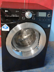 n410 black lg 9kg 1400spin washing machine comes with warranty can be delivered or collected