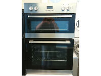 Fo45 stainless steel and black lamona double integrated electric oven comes with warranty