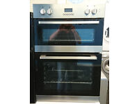 Bo45 stainless steel and black lamona double integrated electric oven comes with warranty