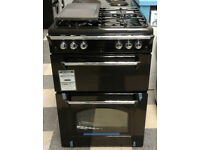 N078 black leisure 60cm double oven gas cooker new with manufacturers warranty can be delivered