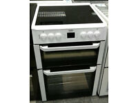 a431 white beko 60cm ceramic hob double oven electric cooker comes with warranty can be delivered