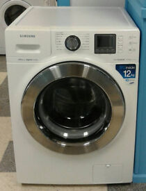 d290 white samsung 12kg 1400spin washing mahine comes with warranty can be delivered or collected