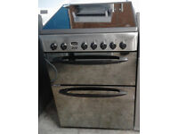 b040 stainless steel & mirrored indesit 60cm double oven ceramic electric cooker comes with warranty