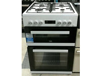 a587 white beko 60cm double oven gas cooker new with manufacturers warranty can be delivered