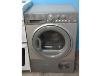 e385 graphite hotpoint 7.5kg condenser dryer comes with warranty can be delivered or collected