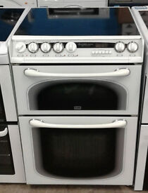 c133 white creda 60cm double oven electric cooker comes with warranty can be delivered or collected
