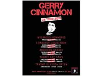 SWAP - Gerry Cinnamon Tickets Aberdeen Garage Thursday 8th March