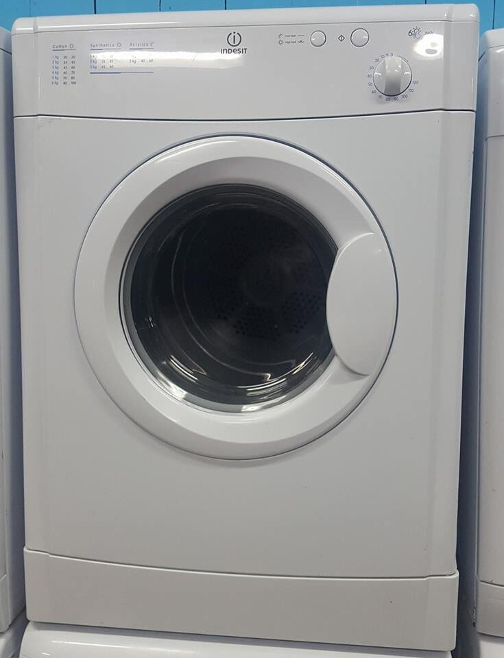 q326 white indesit 6kg vented tumble dryer comes with warranty can be delivered or collected
