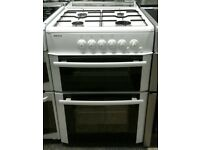 667 white beko 60cm double oven gas cooker with warranty can be delivered or collected