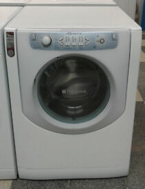 Q102 white hotpoint aqualtis 8kg&6kg 1200spin washer dryer comes with warranty can be delivered