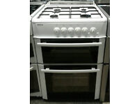 c667 white beko 60cm double oven gas cooker comes with warranty can be delivered or collected