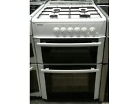 g667 white beko 60cm double oven gas cooker comes with warranty can be delivered or collected