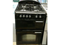 w496 black leisure gourmet 60cm double oven gas cooker comes with warranty can be delivered