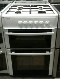 a667 white beko 60cm gas cooker comes with warranty can be delivered or collected