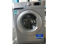 b544 NEW silver indesit 9kg 1400spin washing machine comes with warranty can be delivered