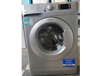 W544 NEW silver indesit 9kg 1400spin washing machine comes with warranty can be delivered
