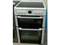a740 white beko 60cm double oven ceramic hob electric cooker comes with warranty can be delivered