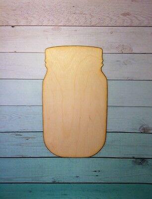 "12"" Wooden Vine Font Mason Jar Unfinished wood Decor Custom"