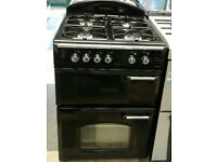 v496 black leisure gourmet 60cm double oven gas cooker comes with warranty can be delivered