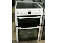 a245 white beko 60cm double oven ceramic hob electric cooker come with warranty can be delivered