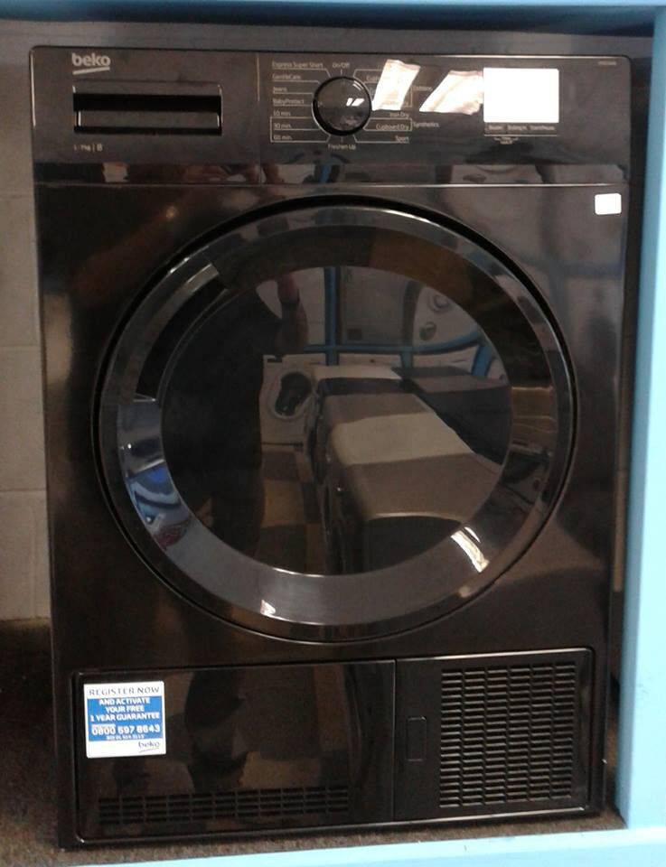 G140 black beko 7kg B rated condenser dryer new with manufacturers warranty can be delivered