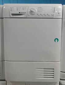 a138 white hotpoint 8kg set and forget condenser dryer comes with warranty can be delivered