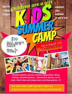 Summer Camp early bird special $99 include lunch