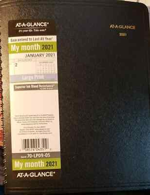 2021 Weekly Appointment Book Planner By At-a-glance Medium Large Print Black