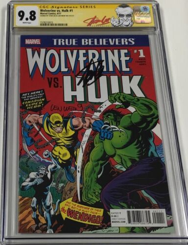 Marvel True Believers Wolverine vs Hulk #1 Signed Stan Lee & Len Wein CGC 9.8 SS