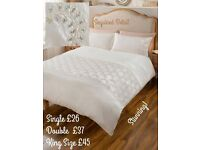 Luxury Stunning Sequinned Duvet Set. Single, Double and King Size.
