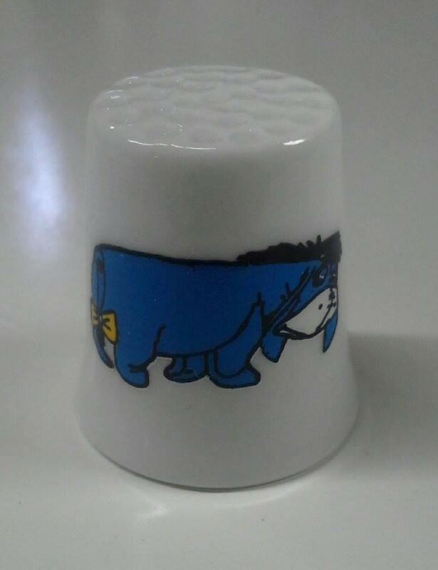Up4Bid Eeyore Collectible Porcelain Thimble