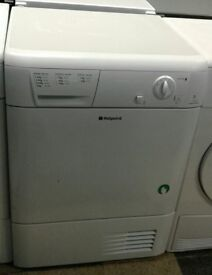 a051 white hotpoint 7kg condenser dryer comes with warranty can be delivered or collected