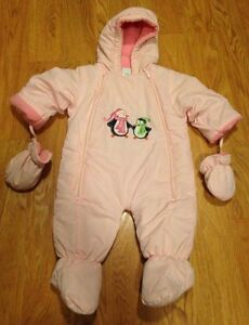 Baby girl snow suit 6-9 months