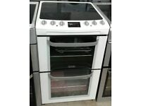 E191 white electrolux 55cm double oven ceramic electric cooker with warranty can be delivered